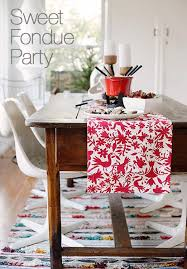 crate and barrel table runner a chocolate fondue party crate and barrel blog