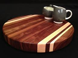 cool cutting boards hand crafted round black walnut cutting board with rock maple