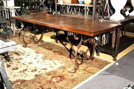 wrought iron dining room table wrought iron dining table legs metal legs trestle base square