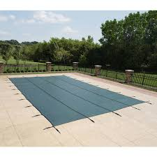 shop blue wave 20 ft x 38 ft polypropylene safety pool cover at