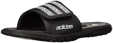 adidas performance men u0027s adilight slide sc sandal black white
