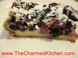 cherry and blueberry clafoutis the charmed kitchen