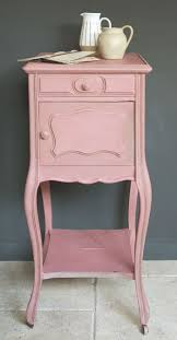 side table in scandinavian pink and french linen around the