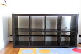 Using 2 Ikea Expedit Bookcases by Furniture Ikea Expedit Bookcase In White With White Wall And
