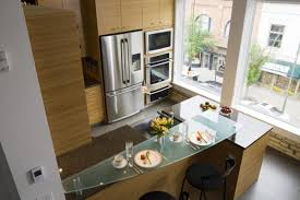 tempered glass countertop modern kitchen with tempered glass