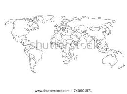 world map outline stock images royalty free images u0026 vectors