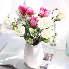 fake flowers for home decor 2017 artificial silk fake flowers magnolia flower wedding car