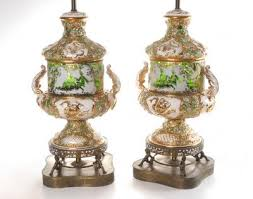 Nippon Vase Price Guide Pair Capodimonte Table Lamps Capo Di Monte Appraisal Values