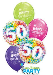 50th birthday balloons 50th birthday confetti dazzler balloon bouquet 50bd07 all