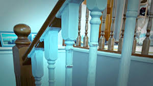 Painting A Banister White Fianlly My Stair Spindles Are Painted In White Youtube
