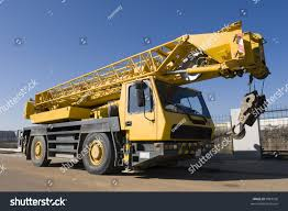 industry background mobile crane truck blue stock photo 9887536