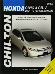 honda civic u0026 crv service and repair manual 2001 to 2010 haynes