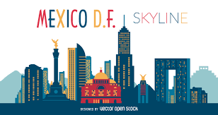 Mexico Flag Symbol Mexico Df Skyline Illustration Vector Download