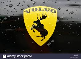 volvo logo the logo sticker of swedish car manufacturer volvo depcits a