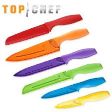 plastic kitchen knives top chef 6 colored knife set 80 tc14 the home depot
