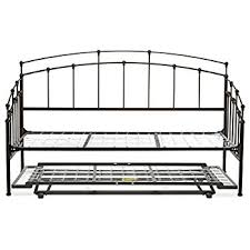 amazon com fenton metal daybed frame with spindle panels and