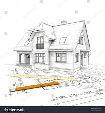 stylized house model floor plan ruler stock illustration 50396893