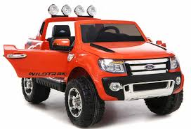 kids red jeep 12v ford ranger electric ride on jeep