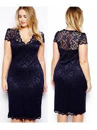 women plus size lace short sleeve party bodycon dresses
