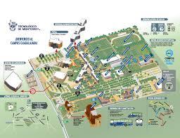 Map Of Monterrey Mexico by Study In Mexico Campus Guadalajara Campus Map