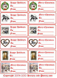 printable horse christmas cards christmas gift tags horses and ponies
