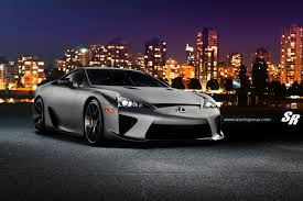 lexus wrapped custom wrapped matte silver lexus lfa heading to vancouver show