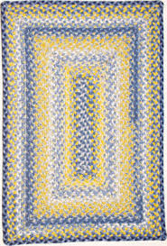 cute casual blue and yellow rug for morning room kitchen or