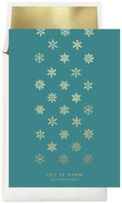 let it snow cards in blue greenvelope