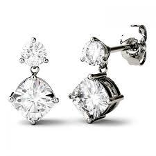 moissanite earrings moissanite earrings fiorese gems co ltd
