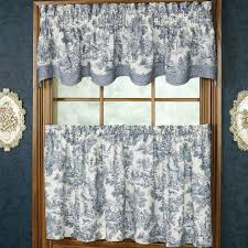 White Curtains With Blue Pattern Furniture Modern Cafe Curtains With Base Valance For Window