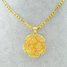 gold flower pendant necklace images Cheap yellow flower jewelry find yellow flower jewelry deals on jpeg