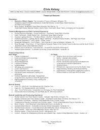 Sample Resume For Musician by Download Performance Resume Haadyaooverbayresort Com