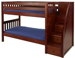 Wooden Bunk Bed With Stairs Wooden Bunk Beds With Stairs Solid Wood Step Bunks