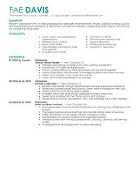 Deli Job Description For Resume by Best Dishwasher Resume Example Livecareer