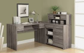 Computer Desk With Drawers Latitude Run Milford L Shaped Computer Desk With Hutch Reviews
