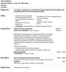 resume sample administrative assistant saying