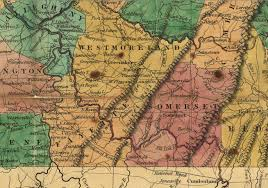 Pa County Map 1829 Young U0026 Finley Map