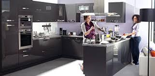 cuisine gris laque modele de cuisine gris laqué idée de modèle de cuisine