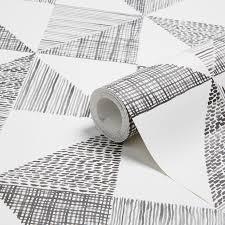 colours loki black u0026 white geometric wallpaper departments diy