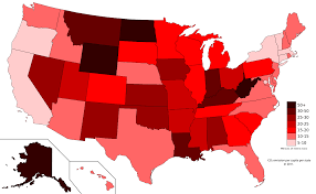 State By State Map Of Usa by List Of U S States By Carbon Dioxide Emissions Wikipedia