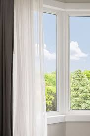 Floor To Ceiling Tension Rod Curtain by The 4 Best Ways To Hang Bay Window Curtains Overstock Com