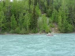 Alaska rivers images Iridescent green color due to glacial silt picture of alaska jpg