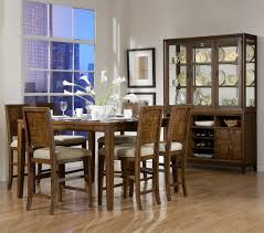 Modern Counter Height Dining Tables by Cherry Finish Modern Counter Height Dining Table W Options