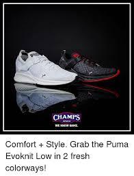 Puma Meme - chs sports we know game comfort style grab the puma evoknit low