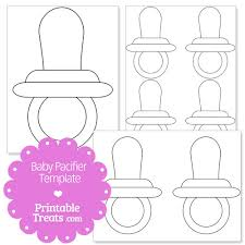 printable baby pacifier template from printabletreats com baby