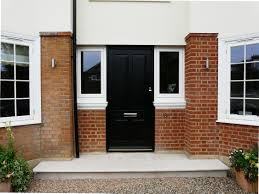 Solid Timber Front Doors by Black Bevington Timber Front Door With Brass Hardware Timber