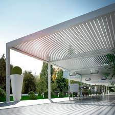 pergola with mobile slats all architecture and design