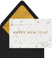 new year invitation golden new year invitations in white greenvelope