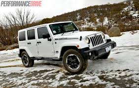 jeep wrangler white 4 door 2016 2014 jeep wrangler polar review video performancedrive