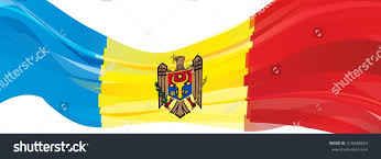 Moldova Flag Blue Yellow Red Flag Republic Moldova Stock Illustration 518488834